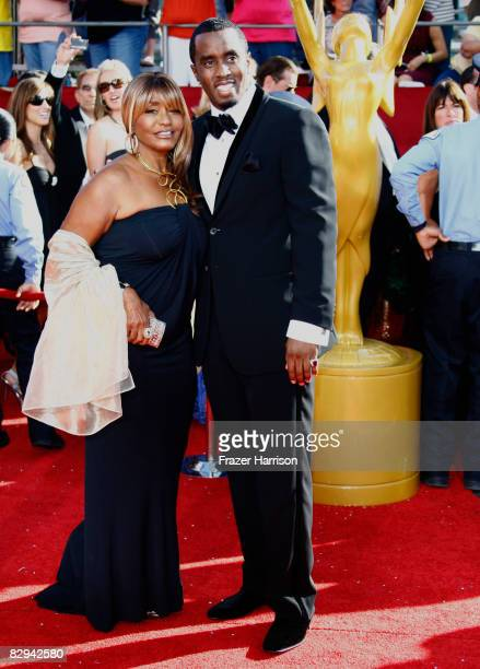 Actor/rapper Sean 'Diddy' Combs and mother Janice Combs arrives at the 60th Primetime Emmy Awards held at Nokia Theatre on September 21 2008 in Los...