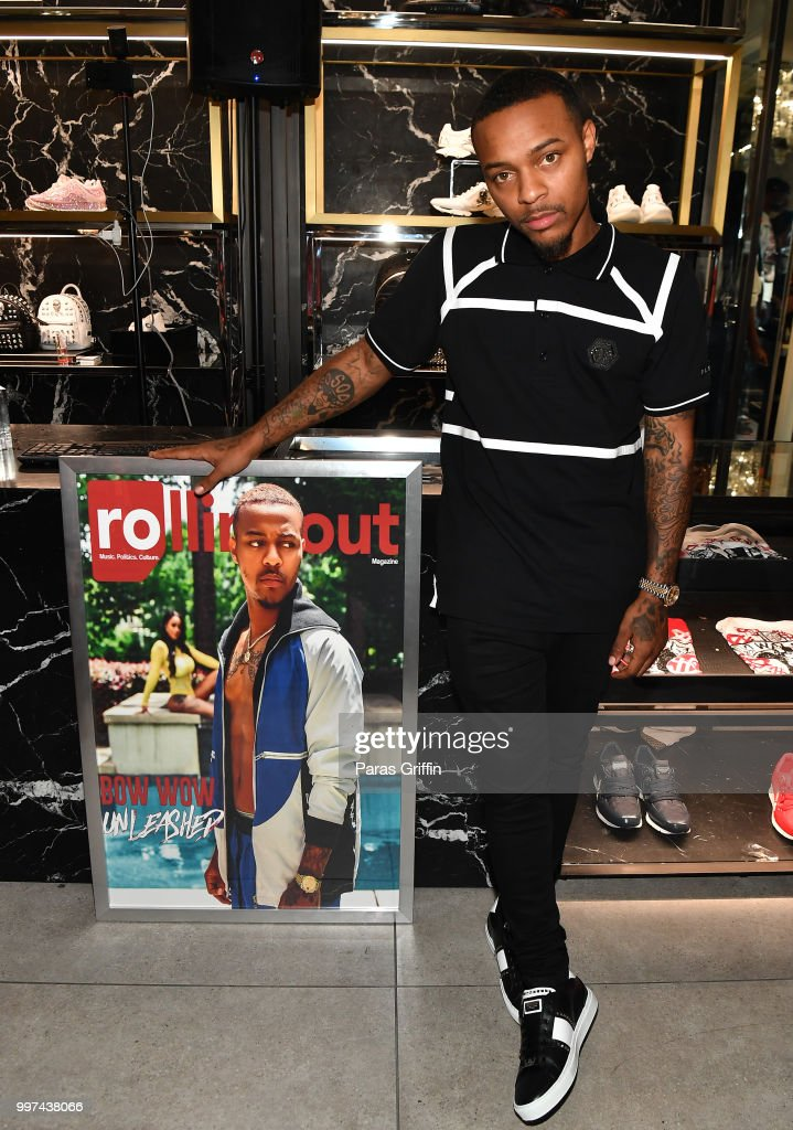 Actor/rapper Shad Moss attends his 'Rolling Out' Cover Reveal Party at Philipp Plein Store - Phipps Plaza on July 12, 2018 in Atlanta, Georgia.