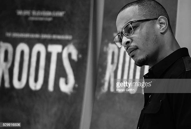 Actor/rapper Tip TI Harris attends HISTORY's Roots Atlanta advanced screening at National Center for Civil and Human Rights on May 9 2016 in Atlanta...