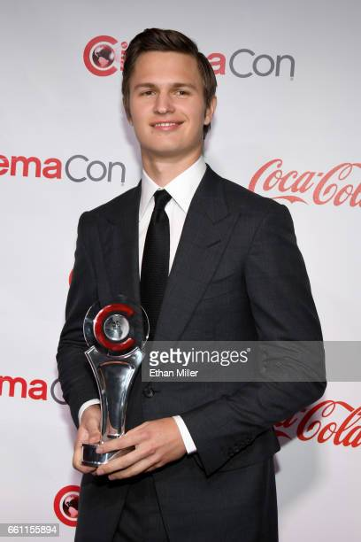 Actor/recording artist Ansel Elgort recipient of the Male Star of Tomorrow Award attends the CinemaCon Big Screen Achievement Awards brought to you...