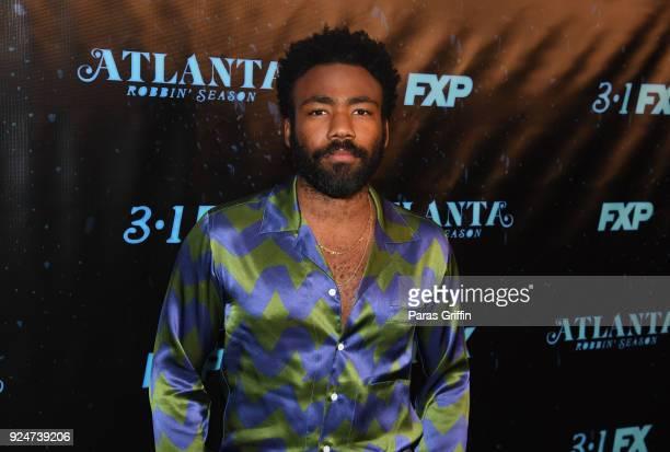 "Actor/recording artist Donald Glover attends ""Atlanta Robbin' Season"" Atlanta Premiere at Starlight Six Drive In on February 26, 2018 in Atlanta,..."