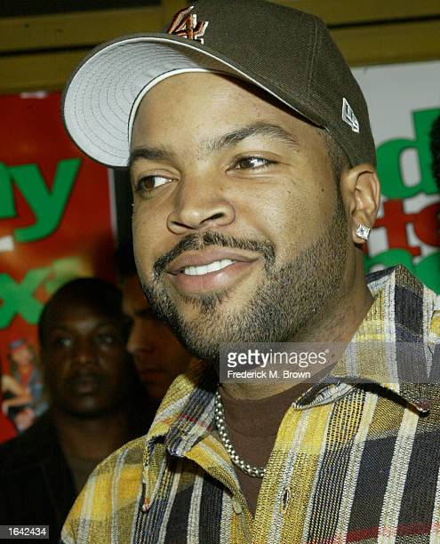 "Actor/recording artist Ice Cube attends the film premiere of ""Friday After Next"" at the Mann National Theatre on November 13, 2002 in Westwood,..."