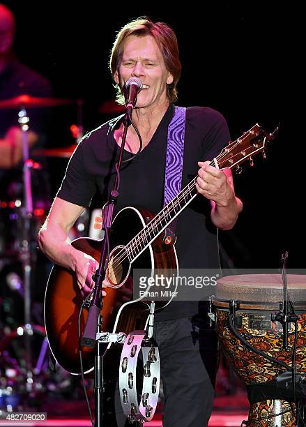 Actor/recording artist Kevin Bacon of The Bacon Brothers performs at The Orleans Hotel Casino on August 1 2015 in Las Vegas Nevada