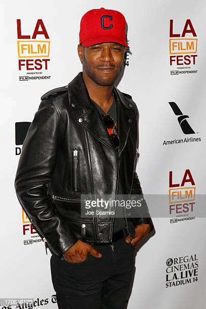 Actor/recording artist Kid Cudi arrives at the 'Goodbye World' premiere during the 2013 Los Angeles Film Festival at DIRECTV Theater on June 15 2013...