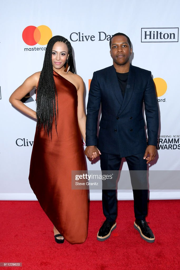Actor/recording artist Leslie Odom Jr. (R) and Nicolette Robinson attend the Clive Davis and Recording Academy Pre-GRAMMY Gala and GRAMMY Salute to Industry Icons Honoring Jay-Z on January 27, 2018 in New York City.