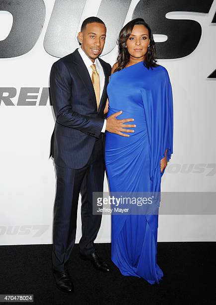 Actor/recording artist Ludacris and Eudoxie Mbouguiengue arrive at the 'Furious 7' Los Angeles Premiere at TCL Chinese Theatre IMAX on April 1 2015...