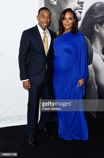 Actor/recording artist Ludacris and Eudoxie Mbouguiengue attend Universal Pictures' Furious 7 premiere at TCL Chinese Theatre on April 1 2015 in...