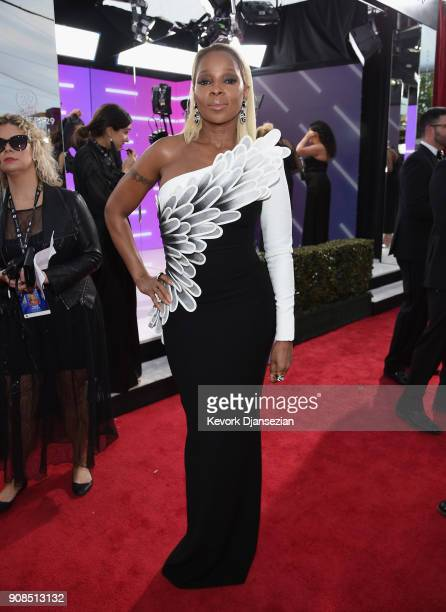 Actor/recording artist Mary J Blige attends the 24th Annual Screen ActorsGuild Awards at The Shrine Auditorium on January 21 2018 in Los Angeles...