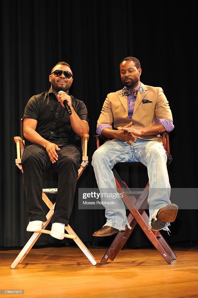 Actor/Recording Artist Music Souldchild and actor Darrin Dewitt Henson attend the premiere of 'In the Meantime' at the Woodruff Arts Center on August 14, 2013 in Atlanta, Georgia.