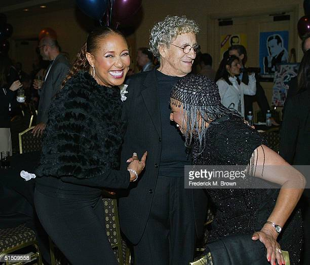 Actor/recording artist Telma Hopkins comedian Sammy Shore and recording artist Joyce Vincent attend the Second Annual TV DVD Conference at the...