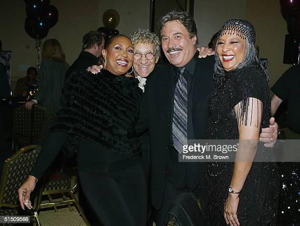 Actor/recording artist Telma Hopkins comedian Sammy Shore recording artists Tony Orlando and Joyce Vincent attend the Second Annual TV DVD Conference...