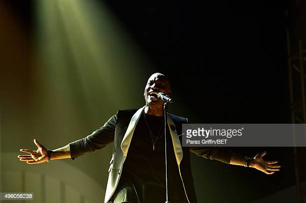 Actor/recording artist Tyrese performs onstage during the 2015 Soul Train Music Awards at the Orleans Arena on November 6 2015 in Las Vegas Nevada