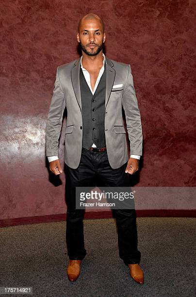 ActorRicky Whittle attends TheWrap's Indie Series Screening of 'Austenland' at the Landmark Theater on August 6 2013 in Los Angeles California