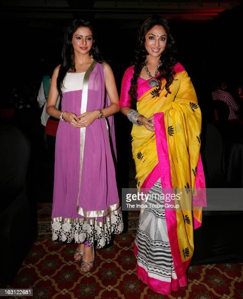 TV actors Aamna Sharif and Mauli Ganguly during the launch of new tele series Ek Thi Naayka