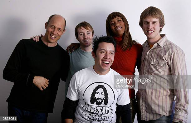 """Actors Aaron Guell, Jon Gries, Shondrella Avery, Jon Heder and Efren Ramirez of the film """"Napoleon Dynamite"""" pose for portraits during the 2004..."""