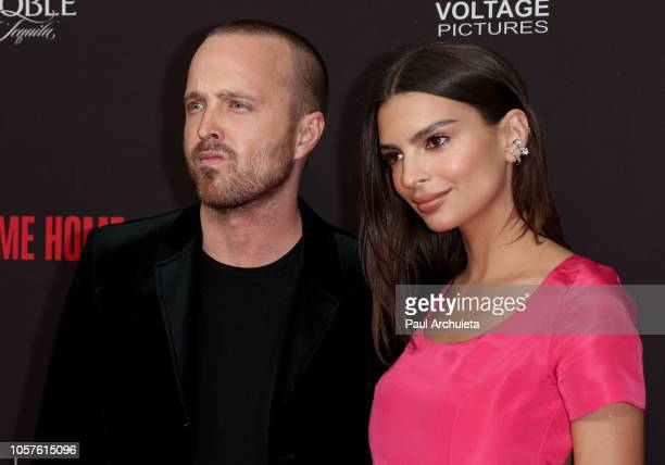"Actors Aaron Paul and Emily Ratajkowski attend the ""Welcome Home"" premiere at The London West Hollywood on November 4, 2018 in West Hollywood,..."