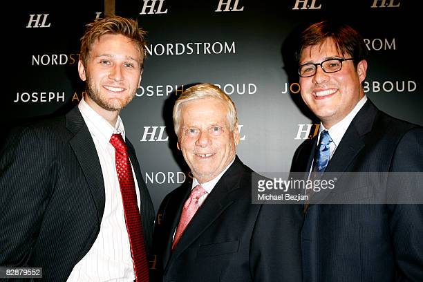 Actors Aaron Staton Robert Morse and Rich Sommer attend the Joseph Abboud Tailored Suit Event at Nordstrom in Thousand Oaks with Cast of AMC's Mad...