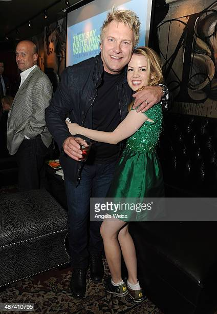 Actors Abbie Cobb and David Hunt attend the premiere after party of TriStar Picture's 'Mom's Night Out' at Lucky Strike Hollywood on April 29 2014 in...
