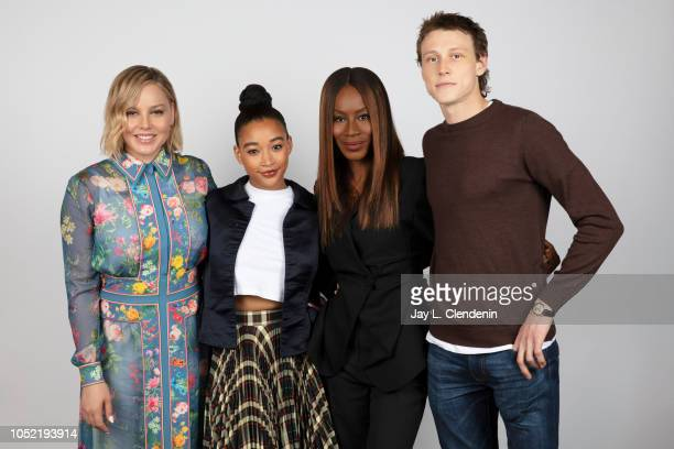 Actors Abbie Cornish Amandla Stenberg writer/direrctor Amma Asante and George MacKay from 'Where Hands Touch' are photographed for Los Angeles Times...