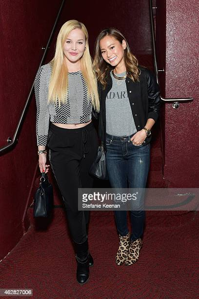 Actors Abbie Cornish and Jamie Chung attend Rolling Stone and Google Play event during Grammy Week at the El Rey Theatre on February 5 2015 in Los...
