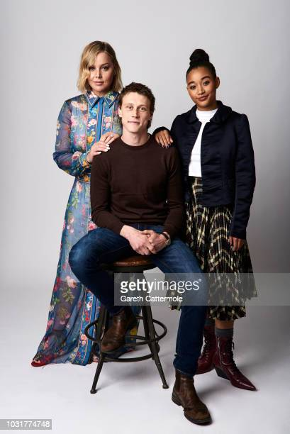 Actors Abbie Cornish George MacKay and Amandla Stenberg from the film 'Where Hands Touch' pose for a portrait during the 2018 Toronto International...