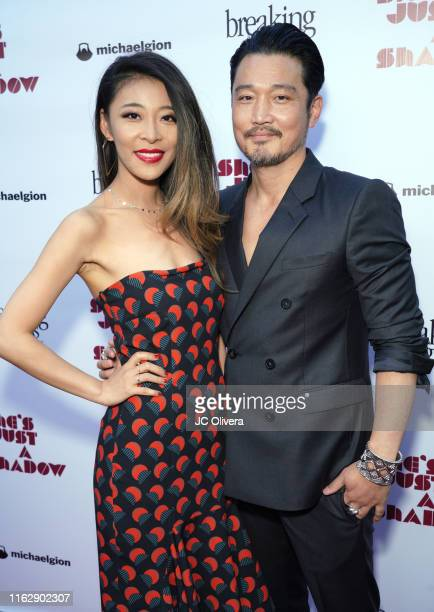 Actors Abby Dong Kentez Asaka attend the premiere of Breaking Glass Pictures' 'She's Just A Shadow' at ArcLight Hollywood on July 18, 2019 in...