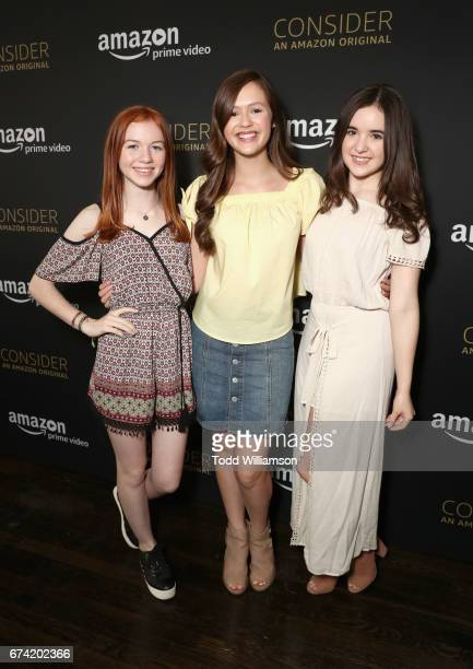 Actors Abby Donnelly Olivia Sanabia and Aubrey K Miller attend Amazon Studios Emmy 'For Your Consideration' event held at The Hollywood Athletic Club...