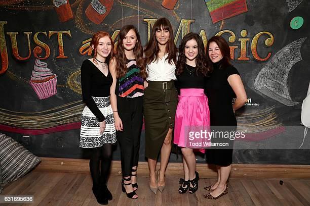 Actors Abby Donnelly Olivia Sanabia Jessica Biel Aubrey Miller and Amazon Studios Head of Kids Programming Tara Sorensen attend the second season...