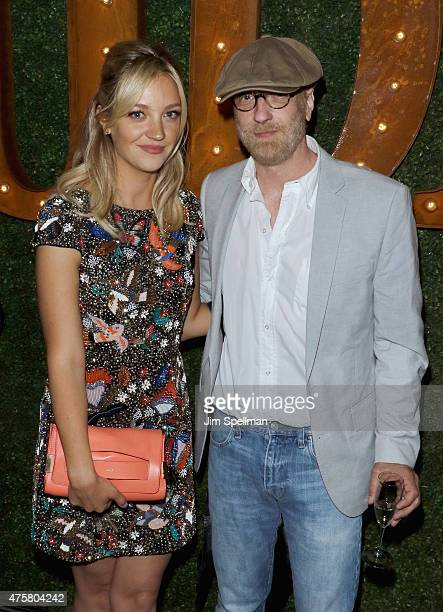 Actors Abby Elliott and Chris Elliott attend the Bravo Presents a special screening of Odd Mom Out after party at Casa Lever on June 3 2015 in New...