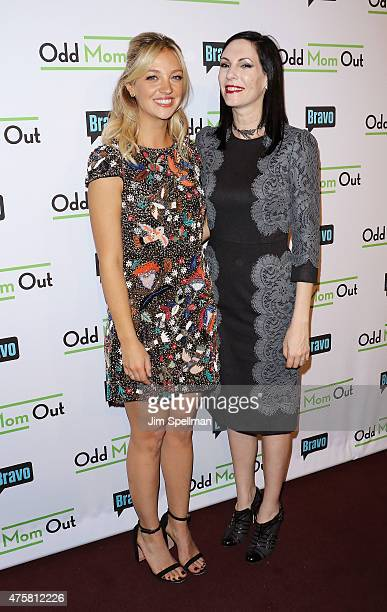 Actors Abby Elliott and Jill Kargman attend the Bravo Presents a special screening of Odd Mom Out at Florence Gould Hall on June 3 2015 in New York...