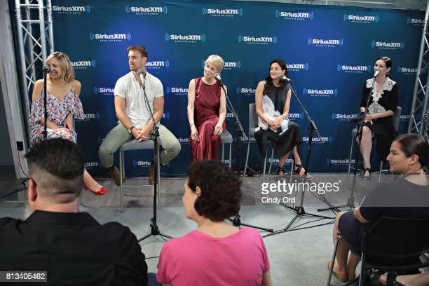 Actors Abby Elliott Sean Kleier Joanna Cassidy and KK Glick participate in SiriusXM's Town Hall with Bravo's Odd Mom Out cast hosted by creator and...