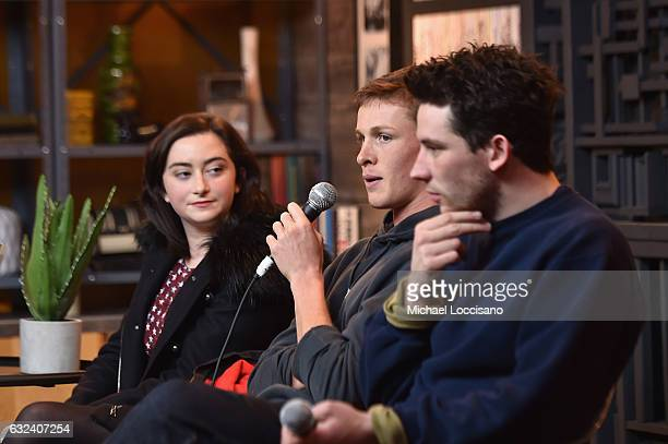 Actors Abby Quinn Josh O'Connor and Harris Dickinson attend the Cinema Cafe on day 4 of the 2017 Sundance Film Festival at Filmmaker Lodge on January...