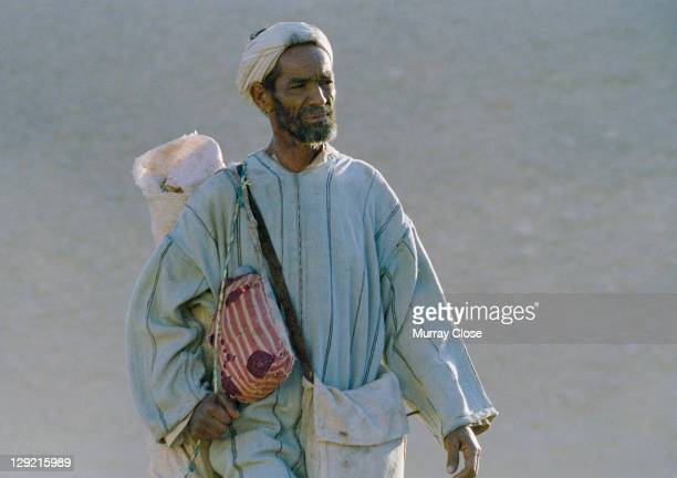 Actors Abdelkader Bara as Hassan in a scene from the movie 'Babel', being filmed on location in Morocco, 2005. The film was directed by Alejandro...