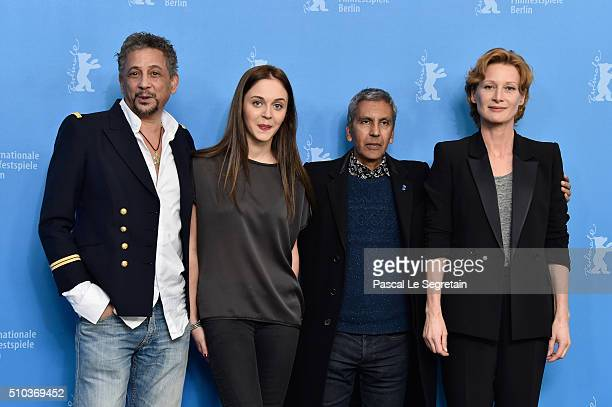 Actors Abel Jafri Pauline Burlet director Rachid Bouchareb and actress Astrid Whettnall attend the 'Road to Istanbul' photo call during the 66th...