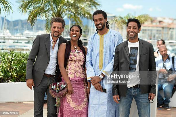 Actors Abel Jafri Toulou Kiki Ibrahim Ahmed dit Pino and Hichem Yacoubi attend the 'Timbuktu' photocall during the 67th Annual Cannes Film Festival...
