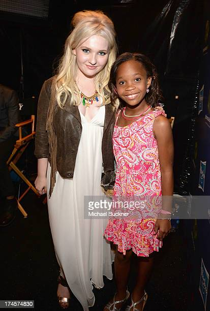 Actors Abigail Breslin and Quvenzhane Wallis attend Variety's Power of Youth presented by Hasbro Inc and generationOn at Universal Studios Backlot on...