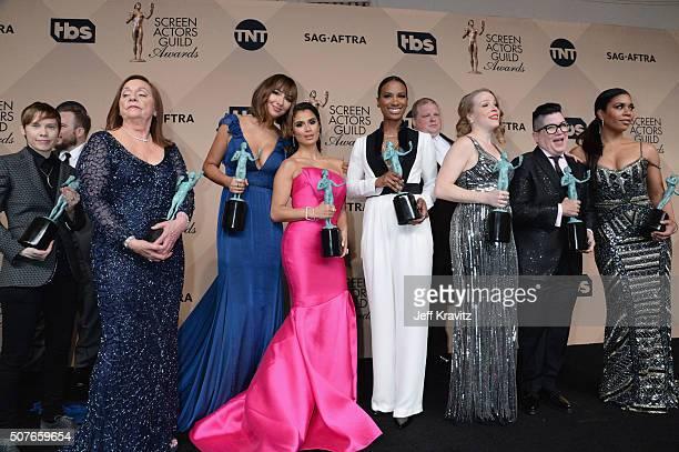 Actors Abigail Savage Dale Soules Jackie Cruz Diane Guerrero Vicky Jeudy Joel Marsh Garland Emma Myles Lea DeLaria and Jessica Pimentel winners of...
