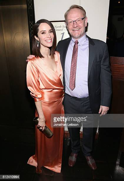 Actors Abigail Spencer and Jared Harris attend the Cadillac Oscar Week Celebration at Chateau Marmont on February 25, 2016 in Los Angeles, California.