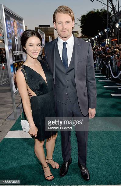 Actors Abigail Spencer and Josh Pence attend Premiere Of Summit Entertainment's Draft Day at Regency Bruin Theatre on April 7 2014 in Los Angeles...