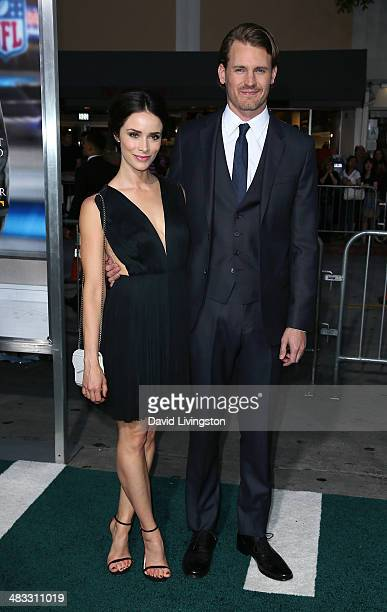 Actors Abigail Spencer and Josh Pence attend the premiere of Summit Entertainment's Draft Day at the Regency Village Theatre on April 7 2014 in Los...