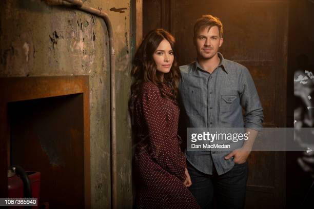 Actors Abigail Spencer and Matt Lanter are photographed for USA Today on November 6, 2018 in Santa Clarita, California. PUBLISHED IMAGE.