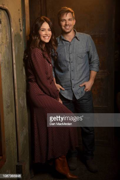Actors Abigail Spencer and Matt Lanter are photographed for USA Today on November 6 2018 in Santa Clarita California PUBLISHED IMAGE