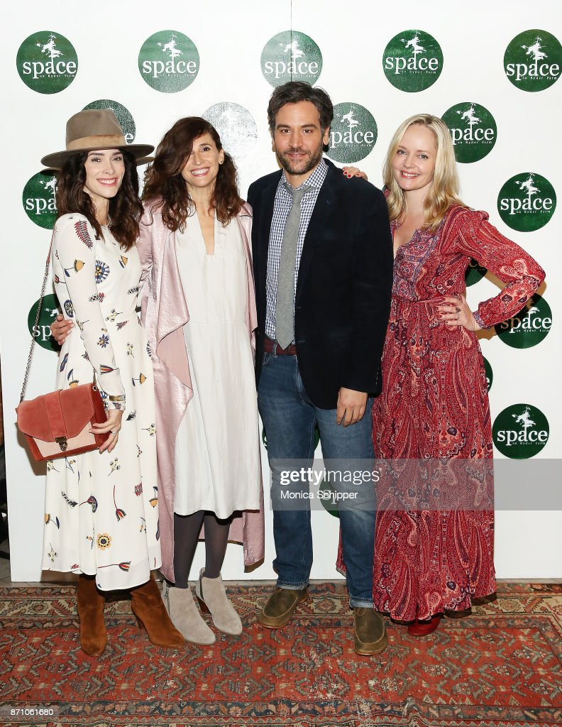Actors Abigail Spencer, Michaela Watkins, Josh Radnor and Marley Shelton attend the 2nd Annual Space On Ryder Farm Gala at Metropolitan West on November 6, 2017 in New York City.