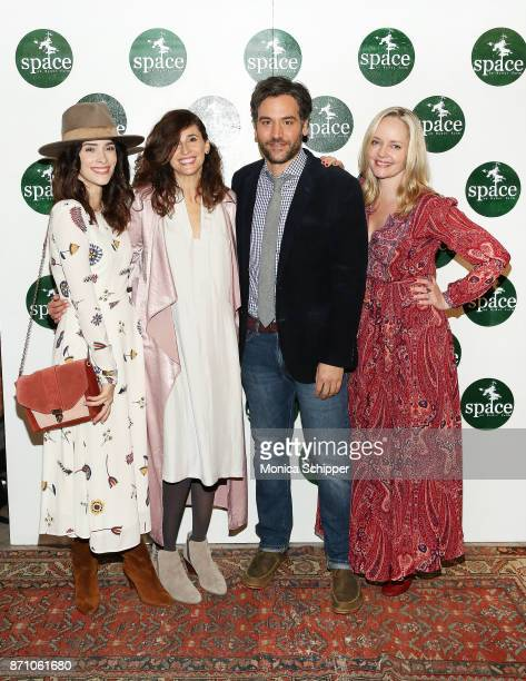 Actors Abigail Spencer Michaela Watkins Josh Radnor and Marley Shelton attend the 2nd Annual Space On Ryder Farm Gala at Metropolitan West on...