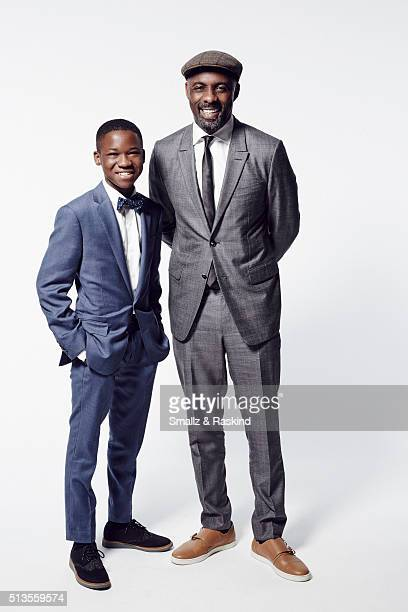 Actors Abraham Attah and Idris Elba pose for a portrait at the 2016 Film Independent Spirit Awards on February 27 2016 in Santa Monica California