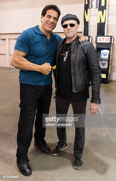 Actors Actor Lou Ferrigno and Michael Rooker attend day 1 of Wizard World Comic Con at Pennsylvania Convention Center on May 7 2015 in Philadelphia...
