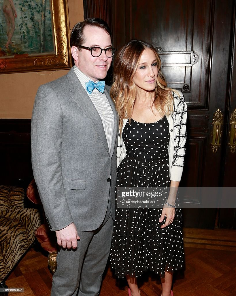 Actors Actor Matthew Broderick and Sarah Jessica Parker attend the 10th Annual Love 'N' Courage Benefit For TNC's Emerging Playwrights Program at The National Arts Club on February 25, 2013 in New York City.