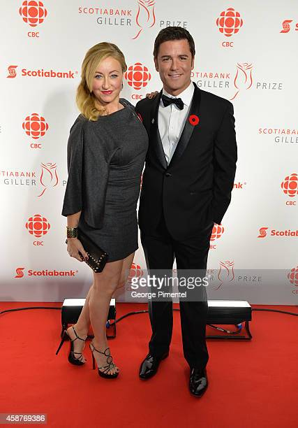 Actors Actor Yannick Bisson and wife Chantal Craig attend the 21st Annual Scotiabank Giller Prize on November 10 2014 in Toronto Canada