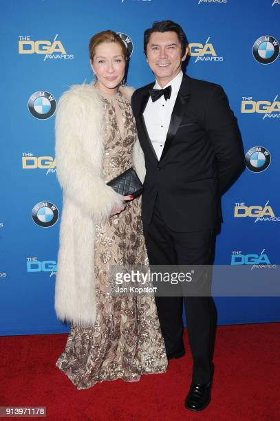 Actors Actor Yvonne Boismier Phillips and Lou Diamond Phillips attend the 70th Annual Directors Guild Of America Awards at The Beverly Hilton Hotel...