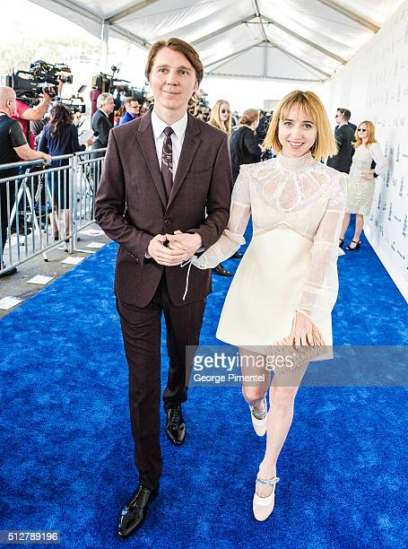 Actors Actors Paul Dano and Zoe Kazan attend the 2016 Film Independent Spirit Awards on February 27 2016 in Santa Monica California